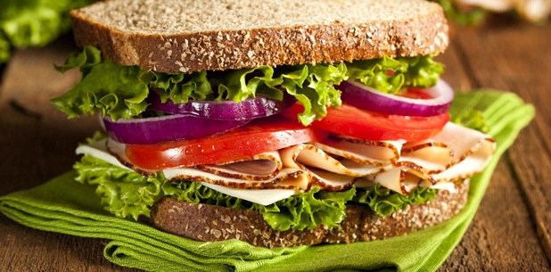 Sandwich verengt die Adern