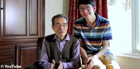 Kenneth Shinozukas mit seinem Großvater