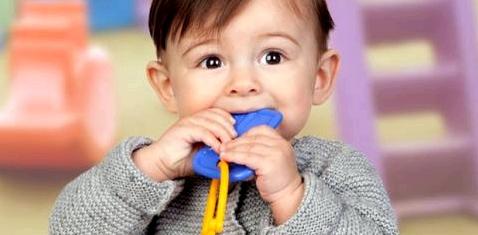 Kinder nehmen Spielzeug oft in den Mund