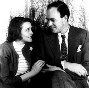 Roald Dahl und Patricia Neal, 1954