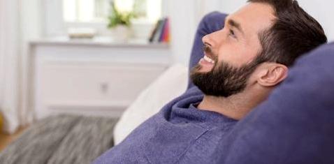 Ein Mann mit Bart