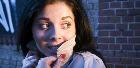 Frau mit Angstzuständen