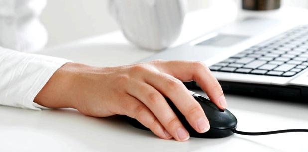 Arbeit mit Computermaus Ursache Sehnenscheidenentzuendung