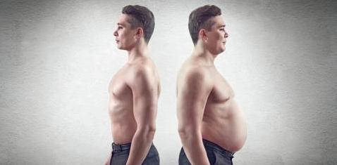 Dicker und dünner Mann