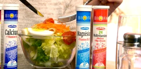 Salat vs. Nahrungsergänzungsmittel