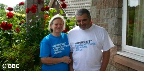 Joy Milne mit ihrem Ehemann