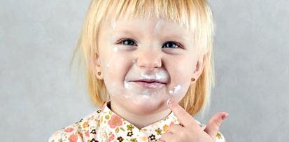 fettige Creme kann beim Kind periorale Dermatitis auslösen