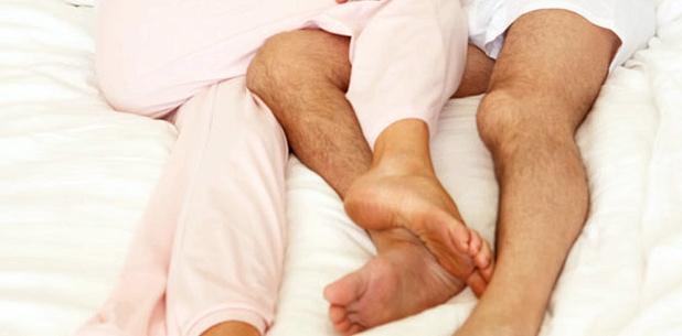 Zärtlichkeiten im Bett