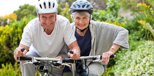 Radfahren Altersherz