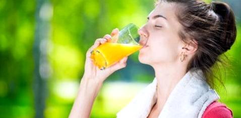 Vitamin C nach dem Sport ist gut für Gesundheit