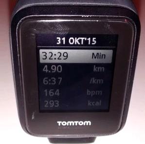 Fitness-Uhr speichert Daten